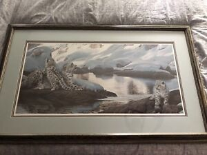 Watchful Eye- Snow Leopards - Rare with COA