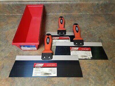 Wal-board 81012 Blue Steel Blade Taping Knife Set W 12 Plastic Mud Pan