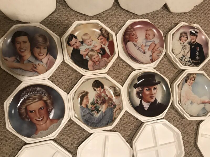 The Princess Diana Plate Collection by Barry Morgen Lot Of 8 Set