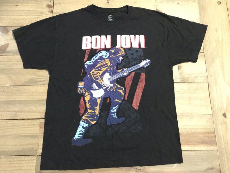 Bon Jovi Because We Can North America 2013 Concert Tour T Shirt Large