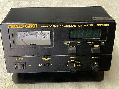 Melles Griot 13pem001 Broadband Powerenergy Meter