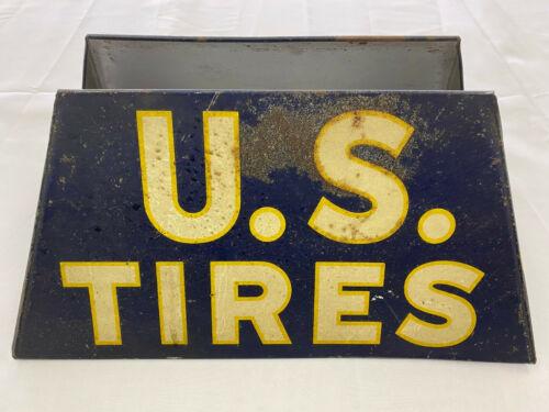 RARE Vintage U.S. Tires Metal Display Stand Early Design