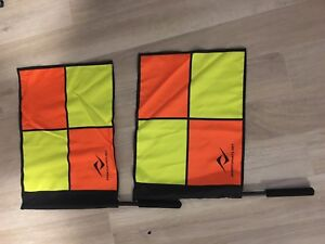 Soccer assistant referee flags