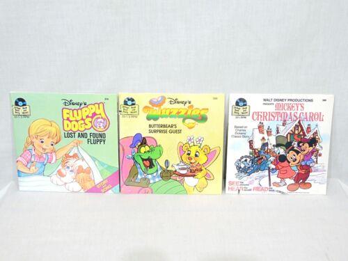 Sealed Fluppy Dogs Wuzzles Christmas Carol Disneyland Book Record See Hear Read
