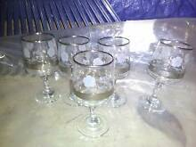 Port Glasses Wine Drinking Baileys Ornamental Display Marsfield Ryde Area Preview