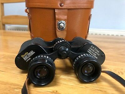 BOOTS Admiral 8 x 30 Coated Optics Japanese Binoculars with Brown Leather Case