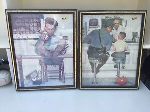 Two Framed Norman Rockwell Prints