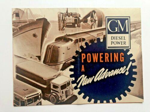 1939 General Motors Sales Brochure for Diesel Power Engines-- A New Advance!