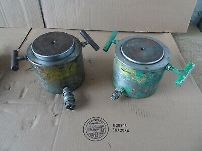 Richard Dudgeon Hydraulic Cylinder Lot Of 2 100 Ton Lifitng Cylinder Industrial