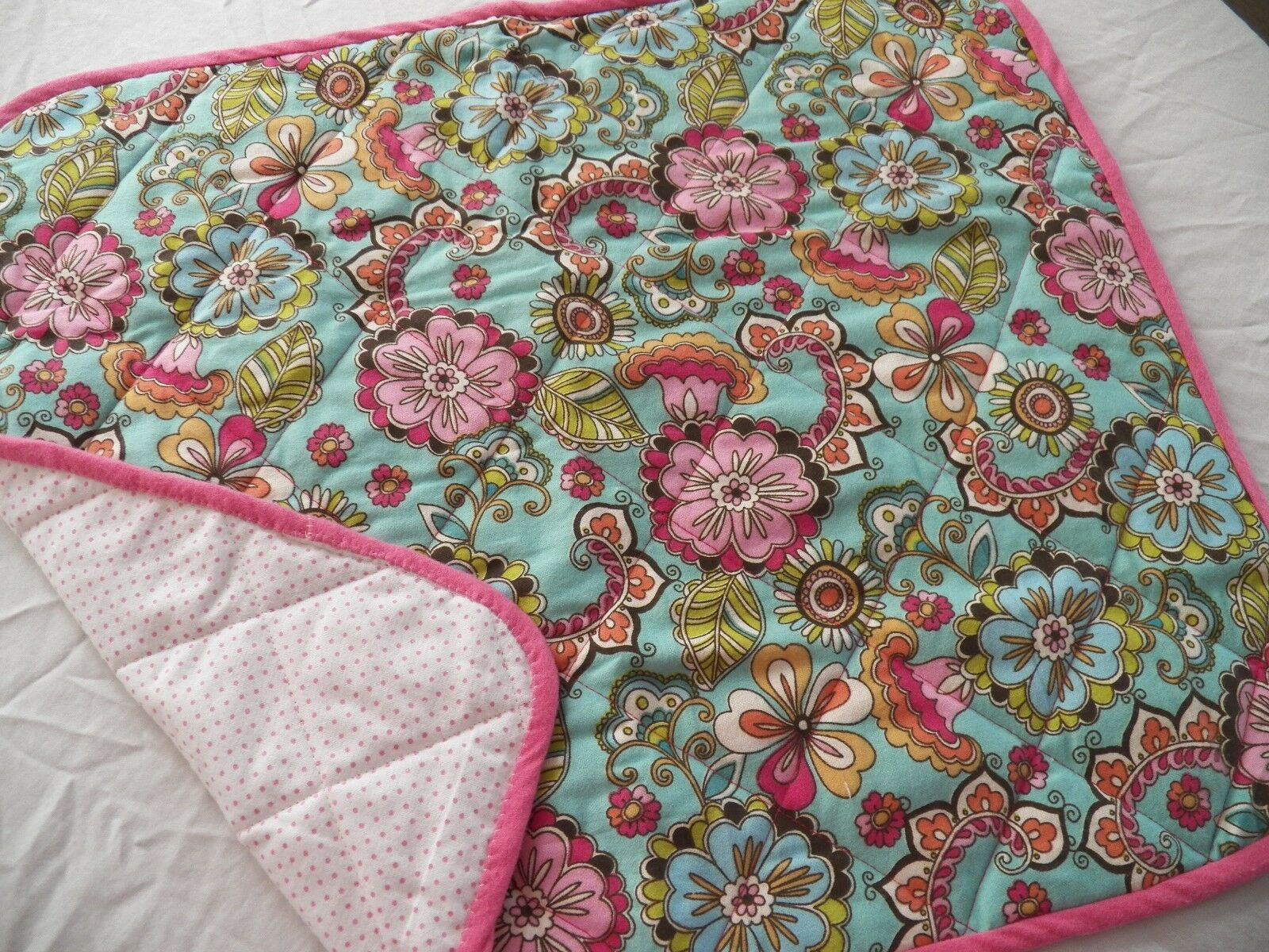 BABY CHANGING PAD Portable Diaper Travel Mat Cotton Washable Padded Handmade NEW 33