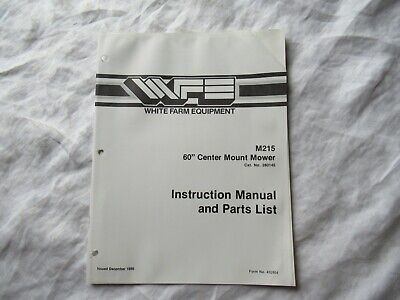 White M215 Center Mount Mower Instruction Manual And Parts Catalog