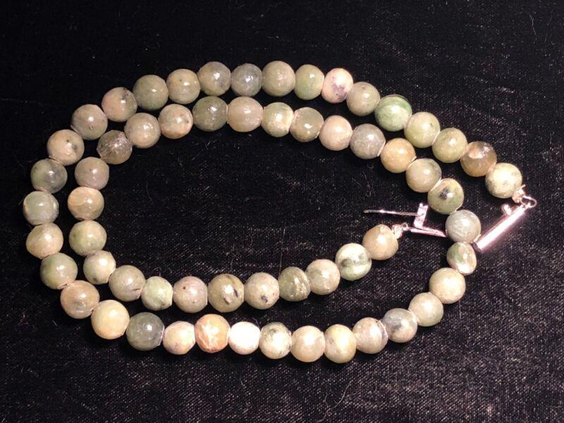 Vintage hand carved Nephrite necklace.