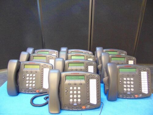 Lot Of 10~3Com~3102~Office Phones W/Stands & Handsets  Free Shipping Rh122x