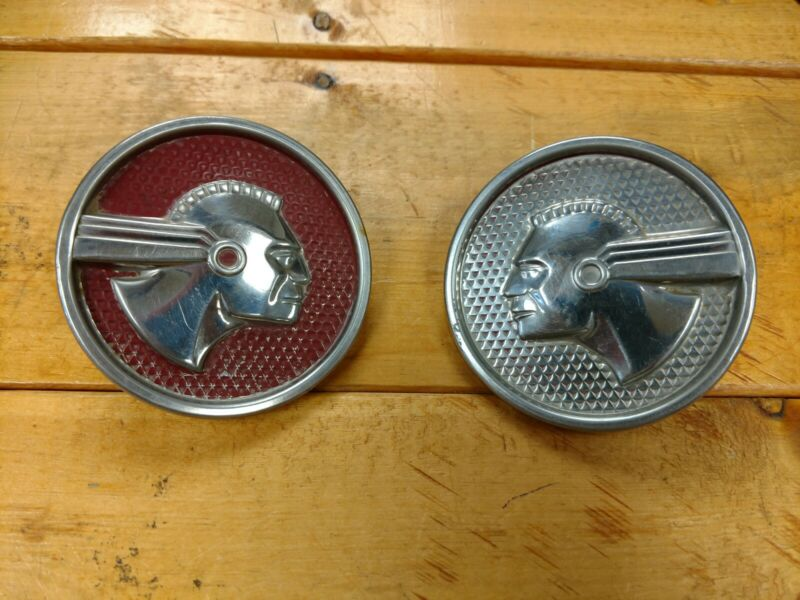 Vintage Pontiac Indian Emblems Hot Rod Rat Rod Automobilia Automotive