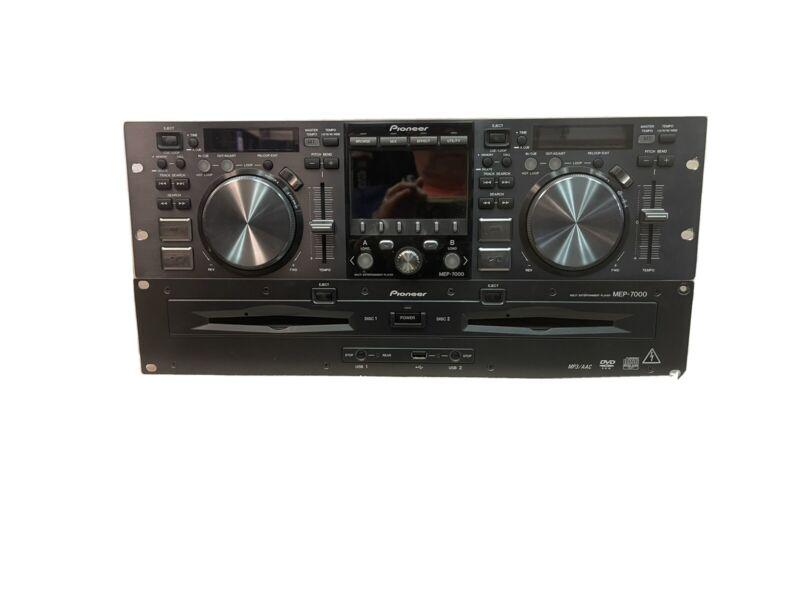 Pioneer MEP-7000 Dual CD,MP3,DVD,USB, Midi Twin Professional Rackmount Deck  DJ