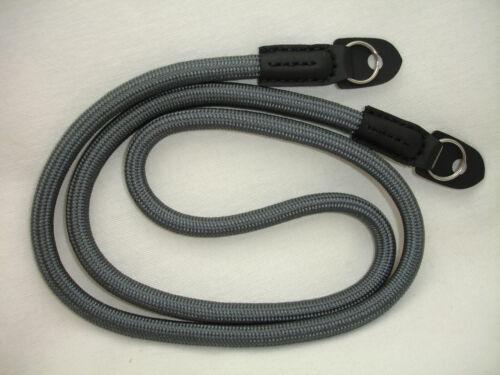 ROPE camera neck strap , with lug rings , GREY ,  Shoulder Sling Strap