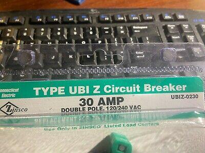 Zinsco Type Ubi Z Circuit Breaker - 30amp Ubiz-0230 - 120240 Vac