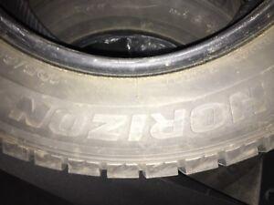(Set of 4) Horizon 195/65r15 (Snow Tires) In Amazing shape!