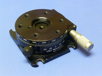 Newport 481-a Precision Rotation Stage With Sm-13 Micrometer