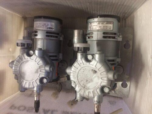 Lot of 2 Gast Vacuum Pump LOA-P103-HD Volts 230/220 Amps 8/9 Compressor