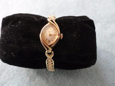 Vintage Wind Up Bulova Ladies Watch with a Stretch Band - Runs Slow