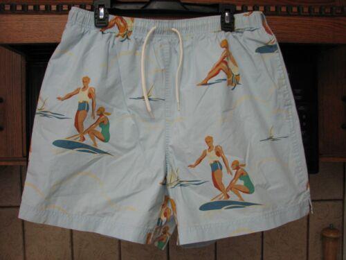 Vintage ralph lauren polo swim trunks shorts art deco surfer unused or perfect