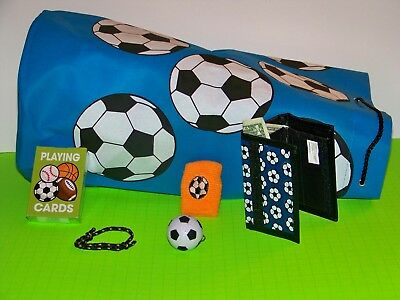 fe34a9b271a Soccer Duffel Bag, Wallet, Keychain, Wristband, and Playing Cards Gift Set