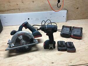 Lot d'outils Bosch avec batteries