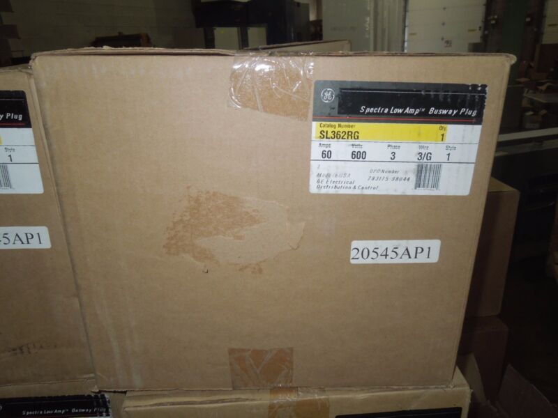 Ge Sl362rg Spectra Series Low Amp 60a 600v 3w W/ Ground Fusible Busplug New