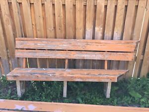 Deck bench with brackets