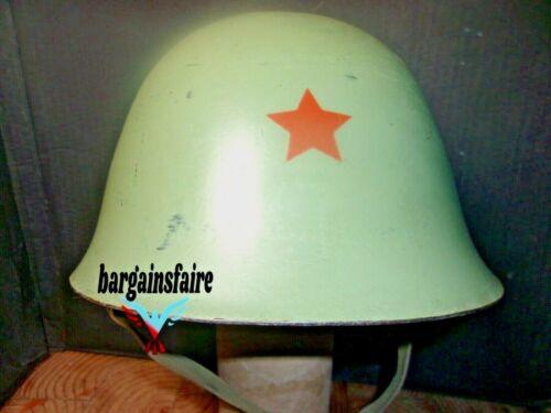 RED STAR COMMUNIST M59 YUGO HELMET W LINER