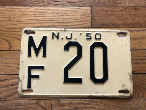 1950 New Jersey License Plate