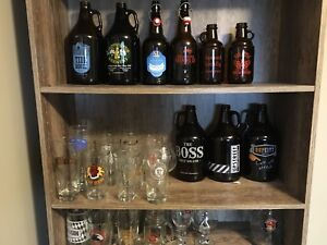 Growlers and Pint glasses