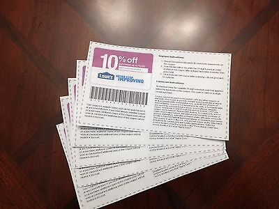 (5) 10% off Coupons - Can be used at Competitors like Home Depot & Menards on Rummage