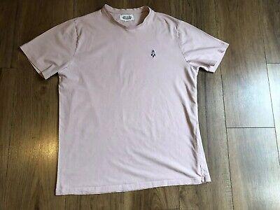 Mens HOXTON DENIM Pink T-shirt Size M