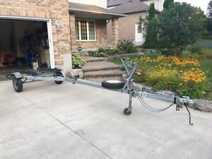 Galvanized boat trailer with swing arm for 16' boat