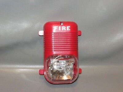 System Sensor P241575 Fire Alarm Horn Signal Strobe Red  Free Shipping