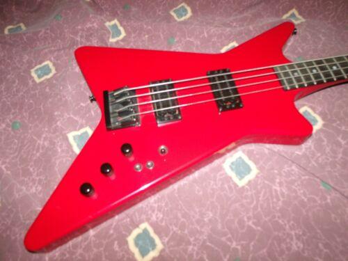 1986 Carvin USA V440 Bass Guitar rare Red Exc/Exc+  Beauty w/orig case