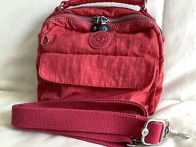 Kipling Candy Crossbody Bag To Backpack In Cherry Red. Used