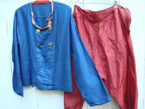 Vintage 40s 50s Dutch Boy Costume 2pc Shirt Pants M L Cotton