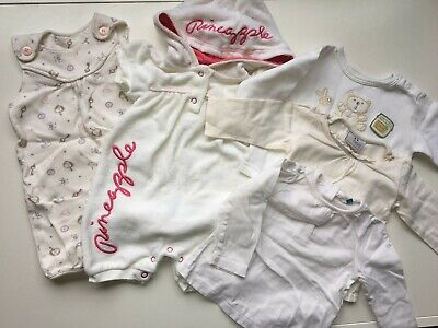 Set of 5 Baby Girl Clothes Bundle 2 x Romper 3 x Top 3-6 Months
