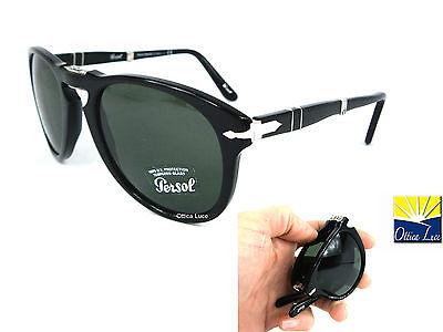 Persol 714 95/31 54 Negro Plegable 9531 Gafas de Sol Sonnenbrille