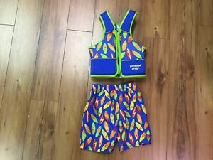 Swim suit for a little boy from 33 -55 LBS+life jacket