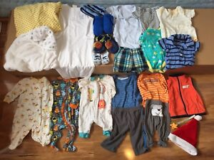 Baby boy 0-3 months clothes plus