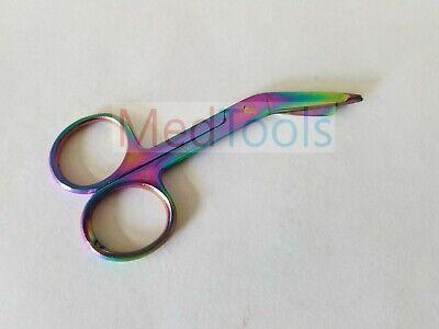 1 Piece Lister Bandage Nurse Scissors - 3.5 Multi Titanium Color Rainbow Nurse