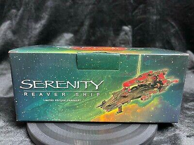 """DARK HORSE FIREFLY SERENITY """"REAVER"""" SPACE SHIP MINI REPLICA ORNAMENT STATUE"""