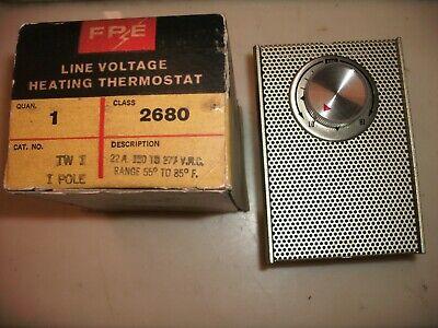Fpe Tw1 One Pole Line Voltage Heating Thermostat Vintage