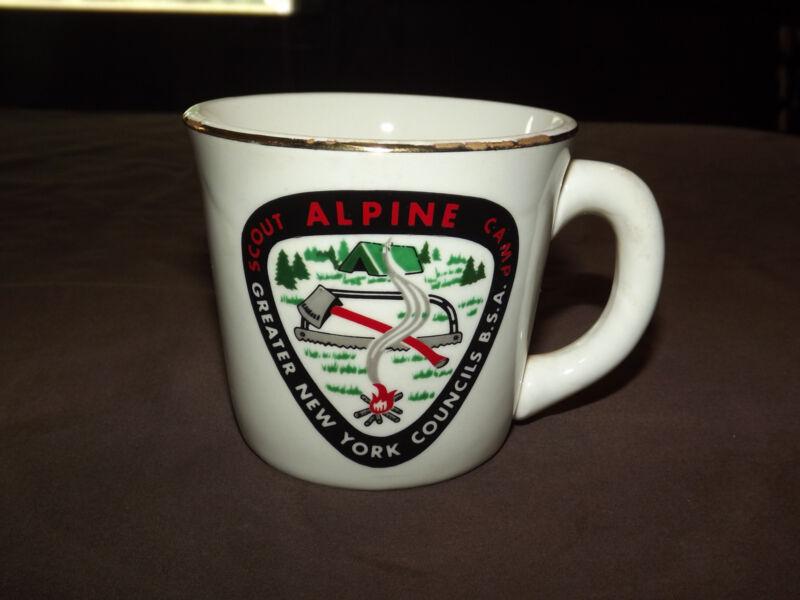 VINTAGE BSA BOY SCOUTS  COFFEE MUG ALPINE SCOUT CAMP NEW YORK COUNCIL