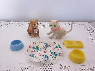 Vintage Barbie Pets Cat and Accessories Dish
