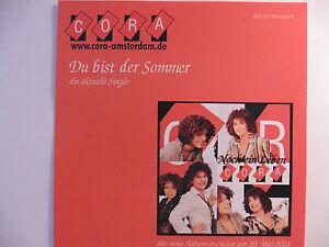 CORA   Du bist der Sommer   Amsterdam   Christina   In The Name Of Love Promo CD